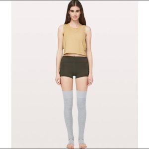 Lululemon studio leg warmer grey net
